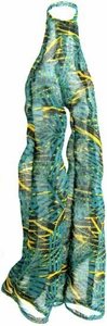 Monster High 10.5 Inch Scale LOOSE Doll Accessory Turquoise, Black & Green Tropical Print Sheer Pantsuit Beach Cover Up