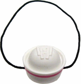 Monster High 10.5 Inch Scale LOOSE Doll Accessory White Hat with Pink Stripe & Elastic Band