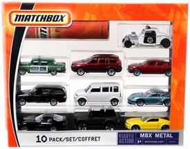 Matchbox Mattel Ready for Action MBX Metal 10-Pack [B5609]