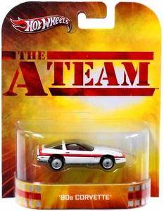 Hot Wheels Retro The A-Team 1:55 Die Cast Car '80s Corvette