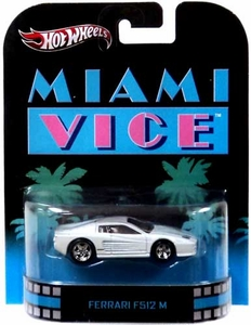 Hot Wheels Retro Miami Vice 1:55 Die Cast Car Ferrari F512 M