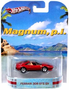 Hot Wheels Retro Magnum, P. I. 1:55 Die Cast Car Ferrari 308 GTS QV