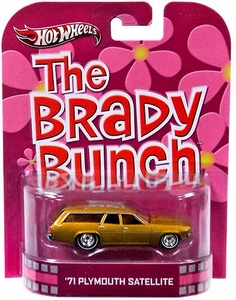 Hot Wheels Retro The Brady Bunch 1:55 Die Cast Car '71 Plymouth Satellite