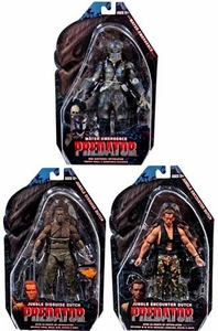 NECA Predator Movie Series 9 Set of 3 Action Figures [Water Emergence Predator, Encounter Dutch & Disguise Dutch]