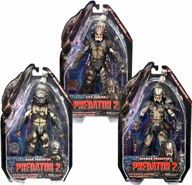 NECA Predator 2 Movie Series 4 Set of 3 Action Figures [Shaman, City Hunter & Boar]