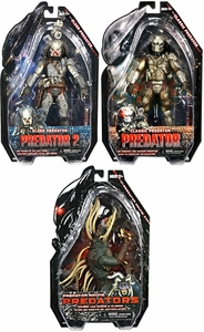 NECA Predators 2010 Movie Series 3 Set of 3 Action Figures [Elder, Hound & Masked Classic]