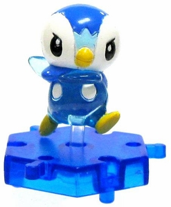 Pokemon Japanese Micro 1 Inch PVC Connecting Figure Crystal Piplup