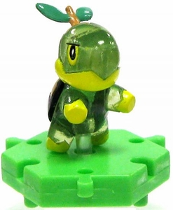 Pokemon Japanese Micro 1 Inch PVC Connecting Figure Crystal Turtwig