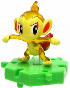 Pokemon Japanese Micro 1 Inch PVC Connecting Figure Crystal Chimchar