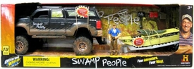 Swamp People Playset Troy with Swamp Boat & Truck [10 Pieces!]