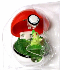Pokemon Pop n Battle Poke Ball Chikorita LOOSE - NO PACKAGE!
