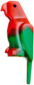 LEGO LOOSE Animal Figure Red & Green Parrot