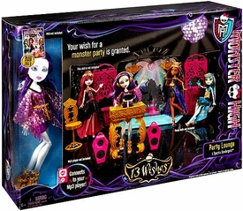 Monster High 13 Wishes Playset Party Lounge with Spectra Vondergeist Doll