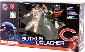McFarlane Toys NFL Sports Picks Action Figure 2-Pack Dick Butkus & Brian Urlacher (Chicago Bears)