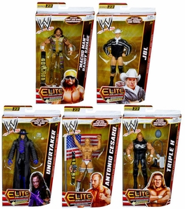 Mattel WWE Wrestling Elite Series 23 Set of 6 Action Figures [Cena, Undertaker, JBL, Macho Man, Cesaro & Triple H]