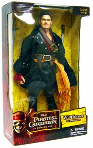 Zizzle Pirates of the Caribbean At World's End Deluxe 12 Inch Action Figure Will Turner Damaged Package, Mint Contents!