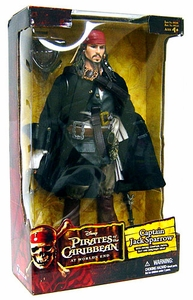 Zizzle Pirates of the Caribbean At World's End Deluxe 12 Inch Action Figure Captain Jack Sparrow
