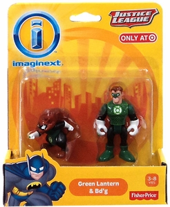 Imaginext DC Justice League Exclusive Mini Figure 2-Pack Green Lantern & Bd'g