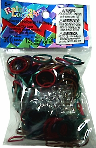 Official Rainbow Loom 300 Ct. SILICONE Rubber Band Refill Pack HALLOWEEN Mix [Includes 12 C-Clips!] MEGA Hot!