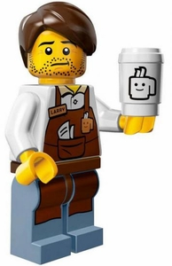 LEGO Minifigure Collection LEGO Movie Series LOOSE Larry the Barista