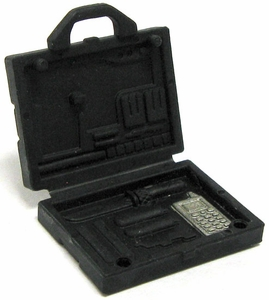 GI Joe 3 3/4 Inch LOOSE Action Figure Accessory Black MARS Briefcase