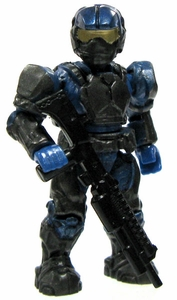 Halo Wars Mega Bloks LOOSE Mini Figure UNSC Cobalt Marine with Mask, Backpack & Shotgun