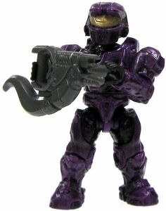 Halo Wars Mega Bloks LOOSE Mini Figure UNSC Purple Spartan with Brute Shot