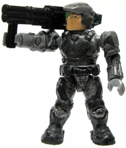 Halo Wars Mega Bloks LOOSE Mini Figure UNSC Silver Marine with Rocket Launcher & Backpack [Open Faced]