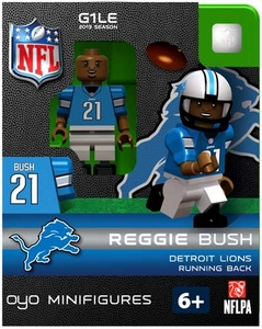 OYO Football NFL Building Brick Minifigure Reggie Bush [Detroit Lions]