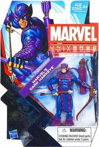 Marvel Universe 3 3/4 Inch Series 22 Action Figure #012 Marvel's Dark Hawkeye [Dark Avengers]