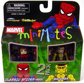 Marvel MiniMates Series 24 Mini Figure 2-Pack Classic Spider-Man & Shocker