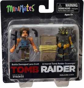 Tomb Raider Minimates Mini Figure 2-Pack Damaged Lara Croft & Armored Scavenger