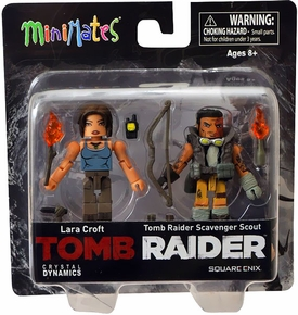 Tomb Raider Minimates Mini Figure 2-Pack Lara Croft & Scavenger Scout