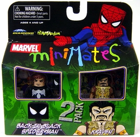 Marvel MiniMates Series 24 Mini Figure 2-Pack Back In Black Spider-Man & Kraven