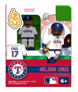 OYO Baseball MLB Building Brick Minifigure Nelson Cruz [Texas Rangers]