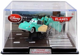 Disney Planes Exclusive 1:43 Die Cast Plane In Plastic Case Franz Fliegenhosen [Clear Visor]