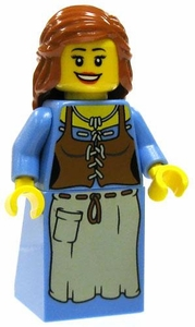 LEGO Castle LOOSE Complete Human Mini Figure Peasant Maiden