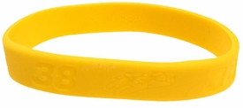 Official Nascar Rubber Bracelet #38 E. Sadler [Yellow]
