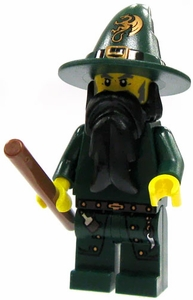 LEGO Castle LOOSE Complete Human Mini Figure Dragon Wizard with Wand