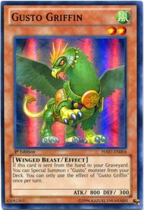 YuGiOh Zexal Hidden Arsenal 7: Knight of Stars Single Card Super Rare HA07-EN004 Gusto Griffin