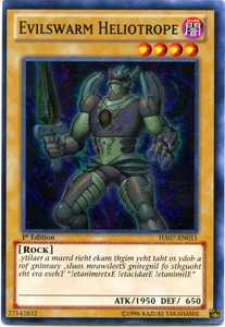 YuGiOh Zexal Hidden Arsenal 7: Knight of Stars Single Card Super Rare HA07-EN011 Evilswarm Heliotrope