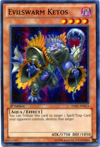 YuGiOh Zexal Hidden Arsenal 7: Knight of Stars Single Card Super Rare HA07-EN013 Evilswarm Ketos