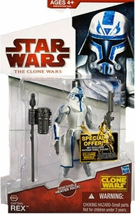 Star Wars 2009 Clone Wars Animated Action Figure CW No. 50 Captain Rex [Removable Heater Pack]