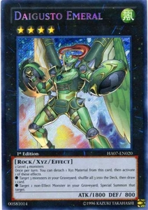 YuGiOh Zexal Hidden Arsenal 7: Knight of Stars Single Card Secret Rare HA07-EN020 Daigusto Emeral