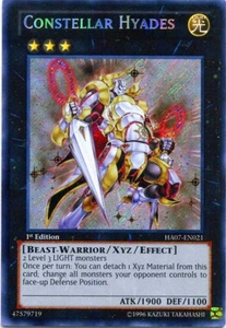 YuGiOh Zexal Hidden Arsenal 7: Knight of Stars Single Card Secret Rare HA07-EN021 Constellar Hyades