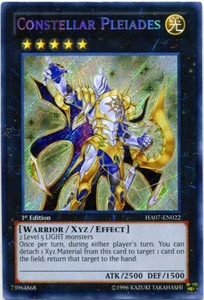 YuGiOh Zexal Hidden Arsenal 7: Knight of Stars Single Card Secret Rare HA07-EN022 Constellar Pleiades