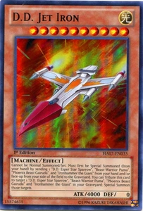 YuGiOh Zexal Hidden Arsenal 7: Knight of Stars Single Card Super Rare HA07-EN035 D.D. Jet Iron