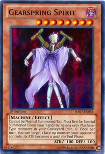 YuGiOh Zexal Hidden Arsenal 7: Knight of Stars Single Card Super Rare HA07-EN038 Gearspring Spirit