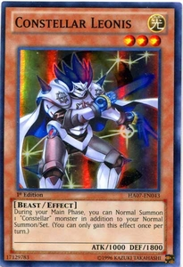 YuGiOh Zexal Hidden Arsenal 7: Knight of Stars Single Card Super Rare HA07-EN043 Constellar Leonis