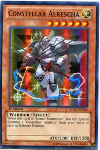 YuGiOh Zexal Hidden Arsenal 7: Knight of Stars Single Card Super Rare HA07-EN046 Constellar Alrescha